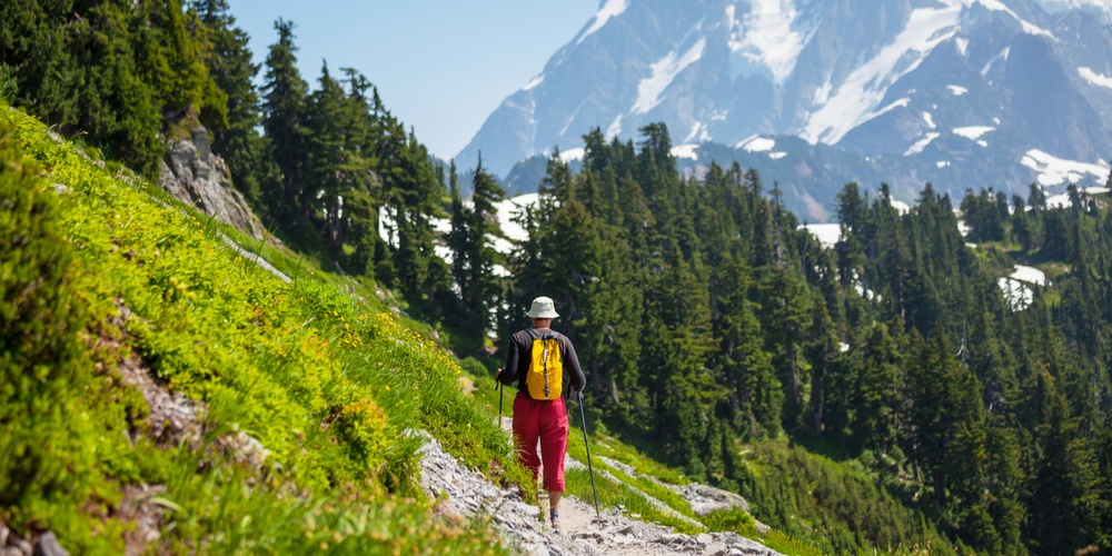 Hike in North Cascades National Park,Washington