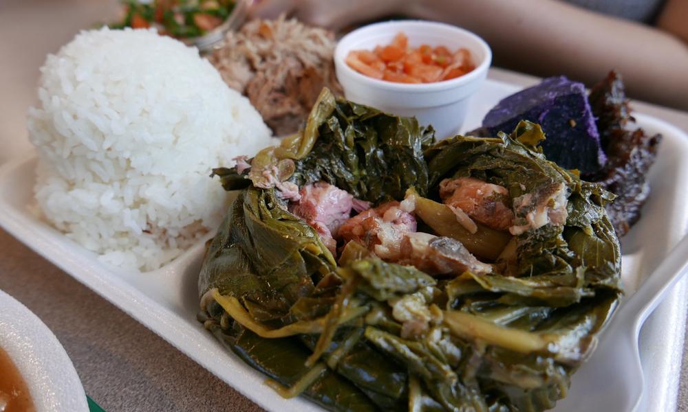 Laulau Hawaiian dish